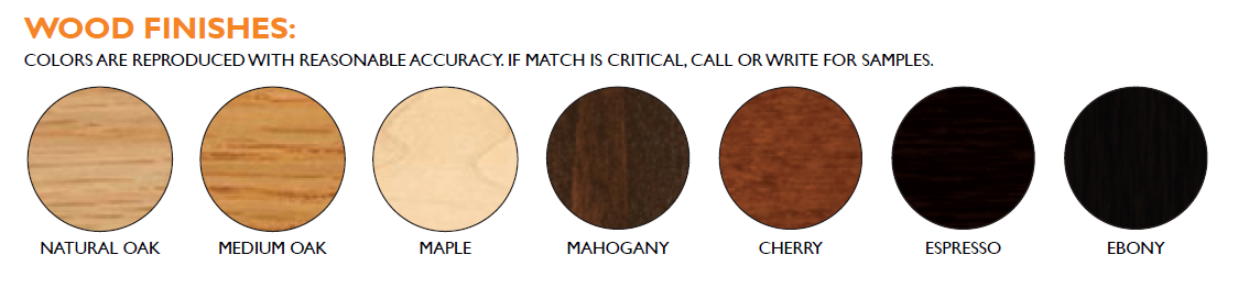 MB Wood Frame Finishes
